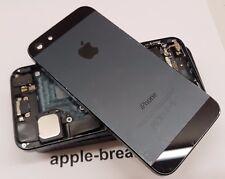Iphone 5 Negro Trasero Chasis vivienda cubierta trasera con piezas grado BC-Original