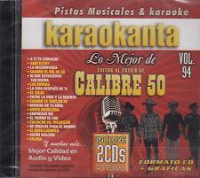 Calibre 50 Lo Mejor Vol 94 2CDS Karaokanta Karaoke CD New Nuevo Sealed