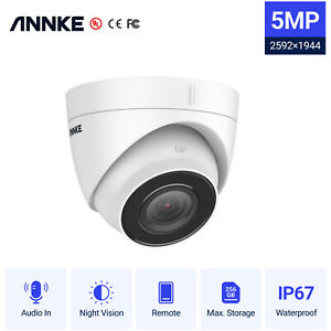 ANNKE Ultra HD 5MP Outdoor POE CCTV Audio Dome Security IP Camera IP67 Remote UK