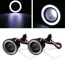 "Pair 3.5"" 12V Angel Eyes LED Fog Light Car SUV Universal White Driving Head Lamp"