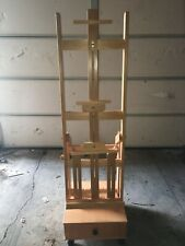 Wonderful Tall Adjustable H Easel with Storage Drawer on Wheels
