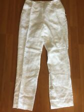 Linen Pant by Saks 5th Ave Real Clothes Size 4P White Yoga Casual