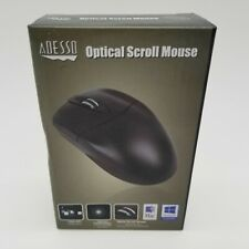 Adesso HC-3003PS Black 3-Button Optical Scrolling PS/2 Computer Mouse - NEW