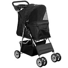 Pet Stroller Large Dog Cat Puppy 4 Wheels Folding Jogger Walk Easy Carrier Cart