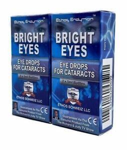 Ethos Bright Eyes N-Acetyl-Carnosine Eye Drops for Cataracts 2 Boxes 20ml