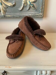 LL Bean mens Wicked good slipper booties brown   size 11 Wide