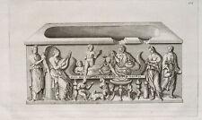 Sarkophag Grab Grabkammer Sarg Amphore Laute Wein Marmor Rom Antike Reliefs