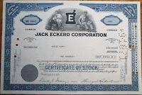 'Jack Eckerd Corporation' 1971 Drug Store / Pharmacy Stock Certificate - Blue