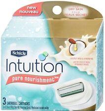 Schick Intuition Pure Nourishment CoconutMilk - AlmondOil Razor Refills 3 ea 2pk