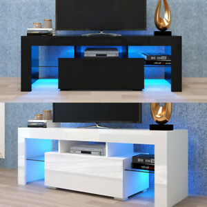 Modern LED TV Stand Cabinet Unit Media Storage Console Cupboard Table High Gloss