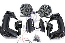 """Mutazu Vivid Black 6.5"""" Speaker Pods Lower Vented Fairings for Harley Touring"""