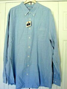 men's Saddlebred shirt new blue oxford dress 3xlt long sleeve buttondown