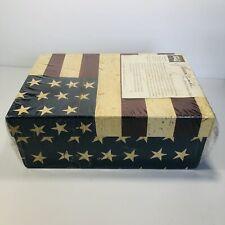 Warren Kimble Photo Video Storage Boxes American Flag Motif