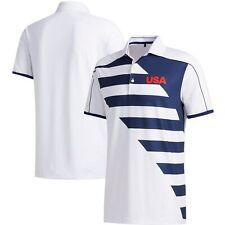 USA Golf adidas 2020 Summer Olympics Thursday Polo - White