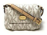 Michael Kors Leather Jet Set Item Small Flap Crossbody Bag