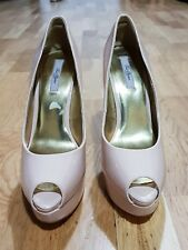 Ted Baker Carlinad nude patent high heel peeptoe shoes size 8/41