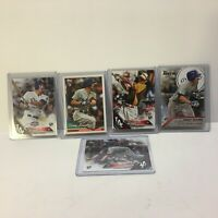 Lot of 5 Corey Seager Rookie RC Topps Baseball Cards LA Dodgers 2016 WS MVP NEW