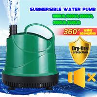 1000-3500LPH Submersible Water Pump Aquarium Pond Fountain Fish Tank Waterfall