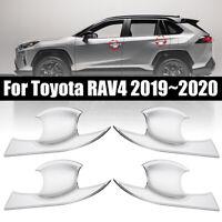 4pcs Chrom Türgriff Mulden Schalen Abdeckung Trims Für Toyota RAV4 2019~2020 NEU