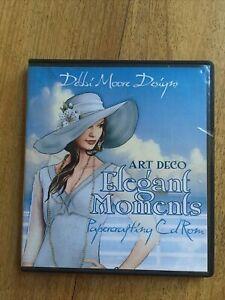Debbi Moore Art Deco Elegant Moments Papercrafting Of / Mac CD Rom Craft
