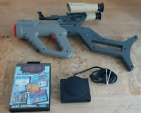 Sega Mega Drive Menacer Gun& Receiver&Game,Faulty/Spares/Repair/Read Description