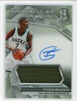 2016-17 Thon Maker 47/149 Auto Jersey Panini Spectra Spectacular Swatches RC