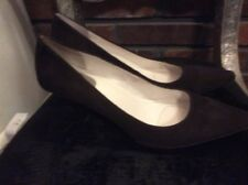 BROWN  SHOES CALVIN KLEIN (DOLLY) SOFT LEATHER HIGH HEEL PUMP 9M  $150.00!!