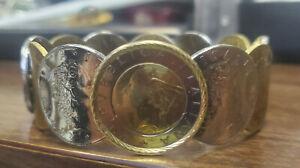 MILOR 14K & Coin ITALIAN Bangle BRACELET
