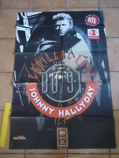JOHNNY HALLYDAY AFFICHE CADILLAC TOUR 90/91 VINTAGE FRENCH POSTER ORIGINAL80*120