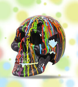 Halloween Teelichthalter Totenkopf Tropfart Party Curios ausgefallen Geschenk