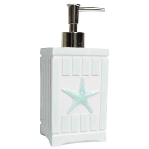 Beach Shells Bath Accessory Collection Poly Resin Bathroom Lotion/Soap Dispenser
