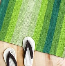 R Stripe Rug (Green), Carpet, Thick Heavy Fabric, Floor, 10 Days Shipping For US