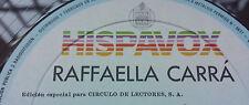 "RAFFAELLA CARRA ""RAFAELLA CARRA"" SPANISH 12"" VINYL / CIRCULO DE LECTORES EDITION"