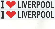 2 x I LOVE LIVERPOOL stickers buy 2 sets get 1set free