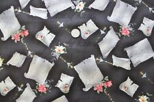 SALE Yuwa Live Life Letter Letters Dark Grey Gray Japanese Fabric HALF Yard