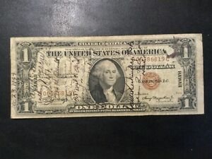 1935-A WWII HAWAII PAPER MONEY - ONE DOLLAR BANKNOTE (SNORTER)!