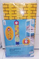 """Textil Messleiste - Messlatte  für Kinder zum Aufhängen """"Turm mit Uhr"""""""