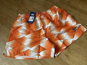 BNWT UMBRO Euro Swim Shorts.  Football 'Holland' Inspired! RRP £25 Size Large