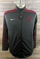 New Nike Dri Fit Mens Track Jacket Full Zip Gray Size Large
