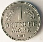 1955 J GERMANY MARK - Rare Date/Mint - Excellent Coin HV4