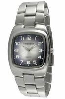 Men's Everyday Wrist Watch with Silver-Tone Case & Blue Dial by Timetech