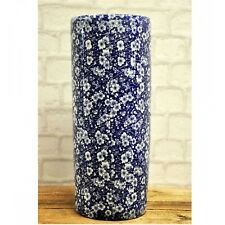 Blue and White Flower Ceramic Umbrella Stand / Walking Stick Stand MIN0812