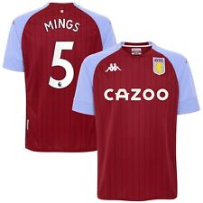 B13 Kids 8yrs Aston Villa Home Stadium Shirt 2020-21 with Mings 5 printing
