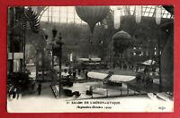 AK PARIS Frankreich 1909 Luftfahrt Ausstellung Flugzeug Ballon  ( 65899