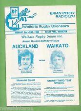 #Tt. Rugby Union Program - 2Nd June 1980, Auckland Vs Waikato