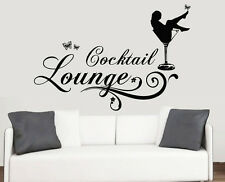 Cocktail Lounge Design Wall Art Vinyl Stickers Wine Glass Transfer Murals Decals