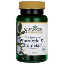 100% NATURAL® Turmeric & Bromelain 450mg   For Arthritis Digestion - 60 Capsules