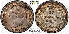 Canada 1871-H Ten Cent  PCGS AU58  Absolutely georgous coin!!