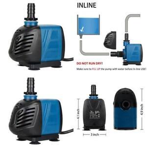 Submersible Inline Water Pump For Pond Pool Fountain Aquarium Pond Fish Tank