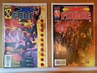 X-FORCE #'s 102 & 103  (1991 Series)  Marvel Comics  VF+/NM  (E174)